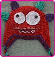 crochet hat decor in animal pattern for newborn baby