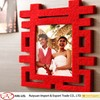 "2015 Alibaba Laser Cut ""XI""-Shaped Customized Felt Photo Frame for Home Decoration"