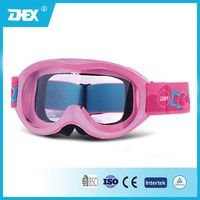 Shinny Pink Color TPU Frame + PC Lens MX Goggles Junior Motorcycle Goggle