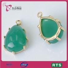 18k gold jewelry wholesale arrowhead pendants water drop