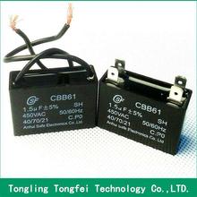 China new design popular 470uf 63v ceiling fan wiring diagram capacitor cbb61