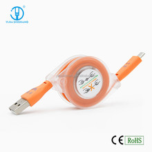 Best selling usb cable with led digital indicator, smartphone sync data usb cable