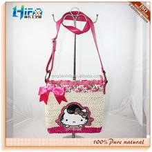 Qingdao HIFA Fashion Cheap Lady Hand Bags Tote corn husk straw bags fashion new style shopping bags