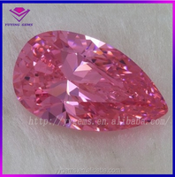 5*7mm pink pear loose shinning cz stone price gems for earring