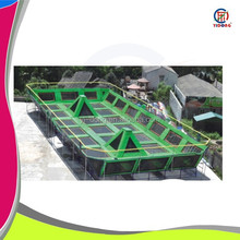 High quality safe big commercial trampoline for adults, indoor trampoline bed