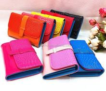 Folding Multi-Card Crocodile PU Clutch Wallet Ladies Party Purses