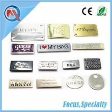 Custom Engraved Logo Metal Tag Label For Handbags