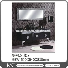 Bathroom vanity stainless steel bathroom cabinet with double sink