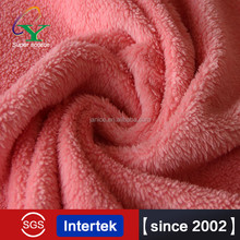 Hot sales ROHS, SGS weft kintting solid colour Rice Grains Fleece Fabric Free Sample