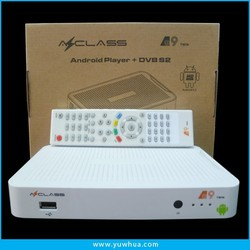 Azclass A9 free android tv box DVB-S2 support CCcam youtube chile android
