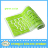 Light green colored computer keyboard dust cover silicone rubber keyboard cover in bulk sale