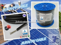 Jiukai TUV approved UV resistance XLPE double insulation 4mm2 solar cable pv electric wire - - CD