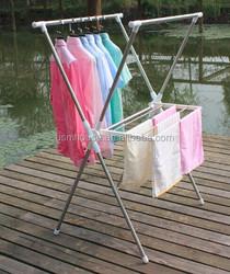 Quick Connector Display Revolving rack / Folding Clothe Rack Extendable Clothe Drying Rack & Metal Hanger