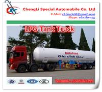 80CBM lpg land tanker, propane gas load tank truck ,lpg regulator with flow meter