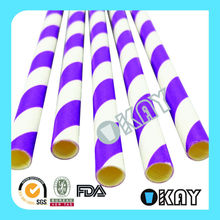 2016 Decoration Individual Wrapped Long Cool Drinking Straws
