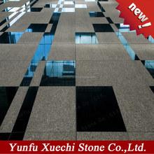 natural stone, flamed slab, China shanxi black granite, brushed tile