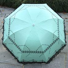 wholesale fashion ladies three folding umbrella rain or shine dual-use umbrellas