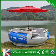 New type Water park amusement boat for BBQ,sightseeing leisure boat for barbecue