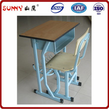 school furniture single student desk and chair moulded panel table