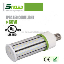 100-115lm/w Aluminum Fin heat sink led corn light,high quality UL 60w led corn bulb for parking garage