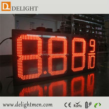 led display for time date temperature/ gas station price led sign board/ led substitute board