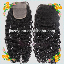Factory Huge stock virgin hair 4X4 lace closure peruvian virgin curly hair lace closure