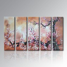 Handmade Modern Large Flower Paintings for Wall Decoration