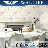 SR10103 cheap modern decorative plastic flower wall paper for home