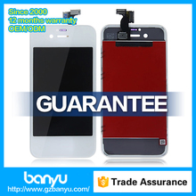 Full tested touch screen digitizer white lcd screen parts for iphone 4s