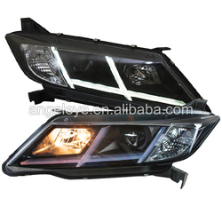For HONDA City 2015 year LED Headlights assembly front lamp for City led car lights black housing SN