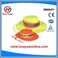 Reflective caps, Polyester fabric with high visibility reflective tapes,Popular in europe market