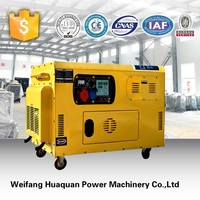 10 kva portable small diesel generator with silent design