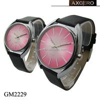 japan movement unisex leather ladies fancy wrist watches