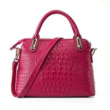 2015 Trending new product wholesale price ladies brand bags genuine crocodile skin leather handbags made in China