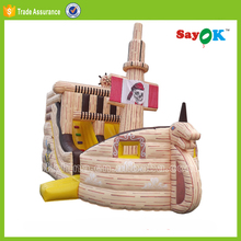 mini inflatable halloween pirate ship bouncy jumping castle