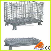 ce certificate wire mesh crate for warehouse wire mesh container with cover
