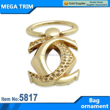 2014 New design gold bag ornament with metal