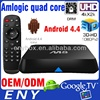 OEM amlogic s802 2.0ghz ultra hd 4k 3d blu-ray player google android 4.4 DRM amlogic s802