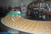 Fuel-saved automatic Swiss roll making production line