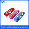 Cartoon tin pencil case metal pencil box