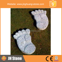 JH Foot Shape Stepping Stone Cute Footprint Stepping Stone for Garden Decoration