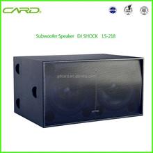 High quality strong heart feeling best sound stage/karaoke/dj equipment big subwoofer speaker