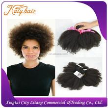 100% brazilian 6A afro kinky human hair extensions,virgin brazilian afro kinky curly hair extensions