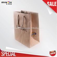Wood grain Printing Brown/white Kraft paper bag