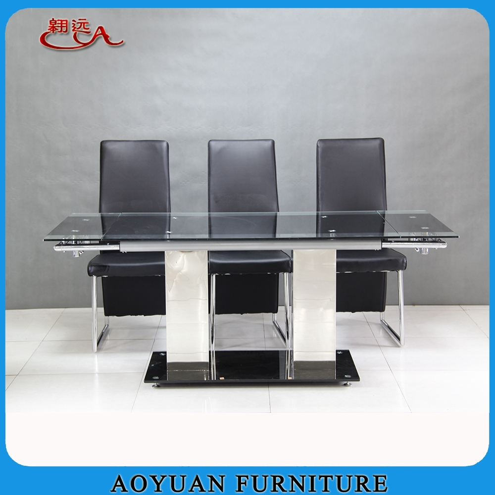 Modern Luxury Temperd Glass Extendable Dining Table Buy  : Modern luxury temperd glass extendable dining table from alibaba.com size 1000 x 1000 jpeg 440kB