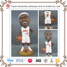 Polyresin Customized Resin LeBron James NBA Bobblehead Doll Statue,NBA LeBron James Bobble Head