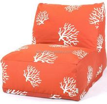 cute orange tree print luxury beauty beanbag chair or soft lazy bean bag corner sofa