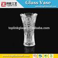 De altura cilindro de vidrio claro florero, la decoración hotelware, florero de cristal clásico