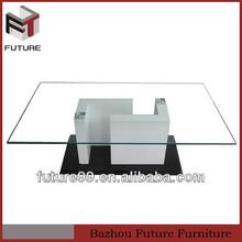la parte superior 2014 nuevo diseño de vidrio de mesa de café mobiliariodesala