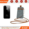 Non woven mobile phone bags,neck hanging phone bag